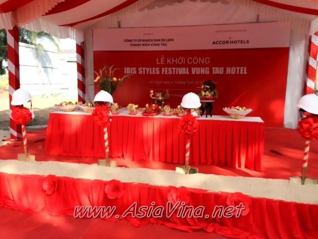 TỔ CHỨC LỄ KHỞI CÔNG IBIS STYLES FESTIVAL VUNG TAU HOTEL